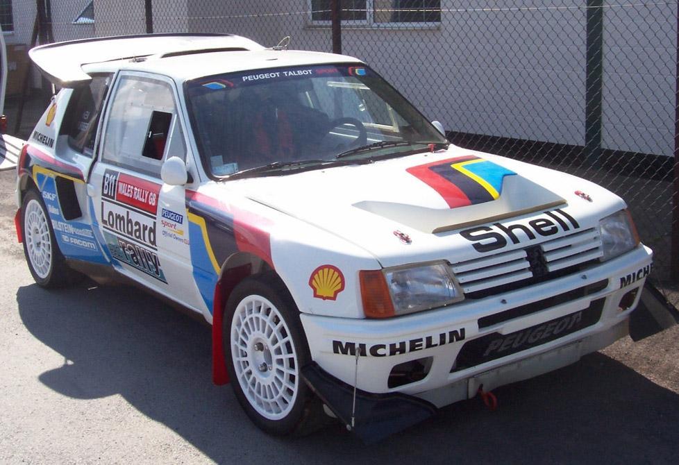 Kevin Furber's 205T16 rally car