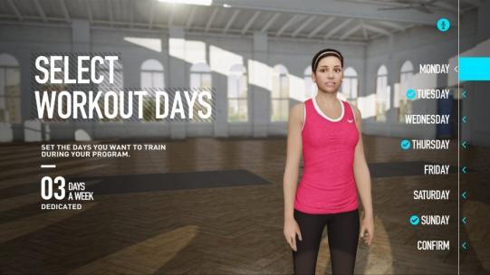 Nike + Kinect Training Screenshot