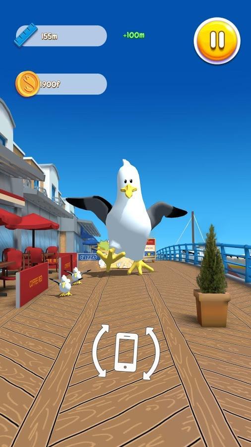 Hungry Gulls Game Screenshot